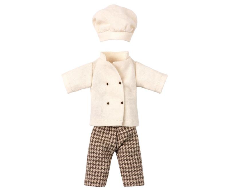 Maileg kledingset chefkok
