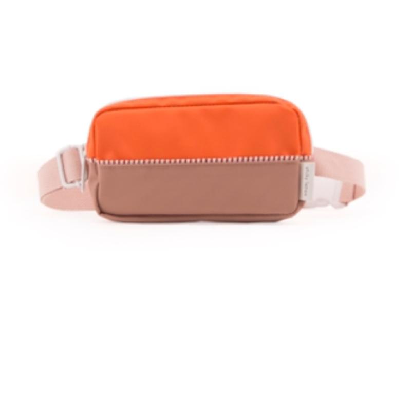 Sticky lemon fanny pack colour blocking Royal orange + chocolat au lait + pastry pink