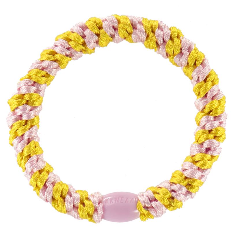 Bon Dep Kknekki haarelastiek Yellow pink