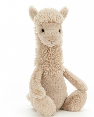 Jellycat knuffel llama bashful medium