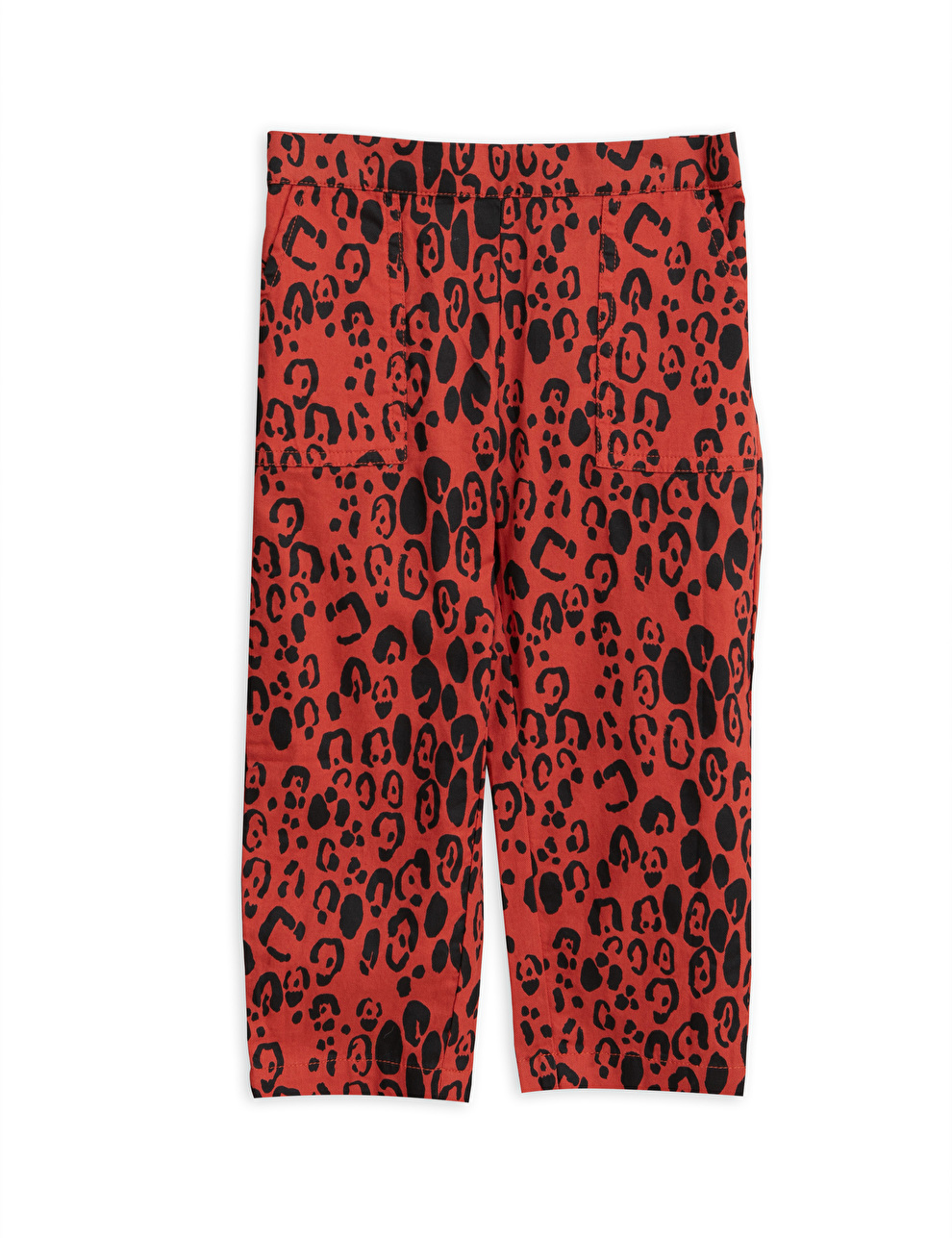 Mini Rodini broek leopard rood
