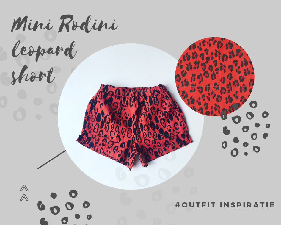 Mini Rodini short red leopard blog