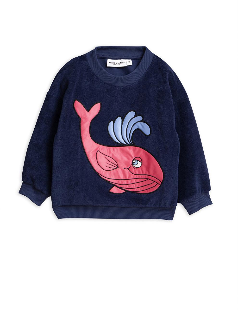 Mini Rodini sweater terry whale