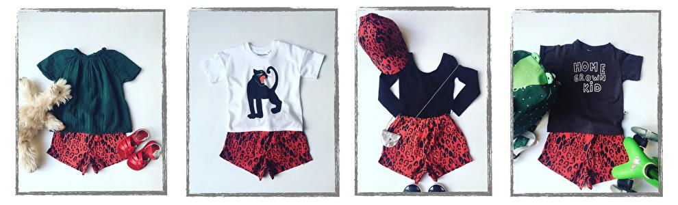 mini rodini short red leopard