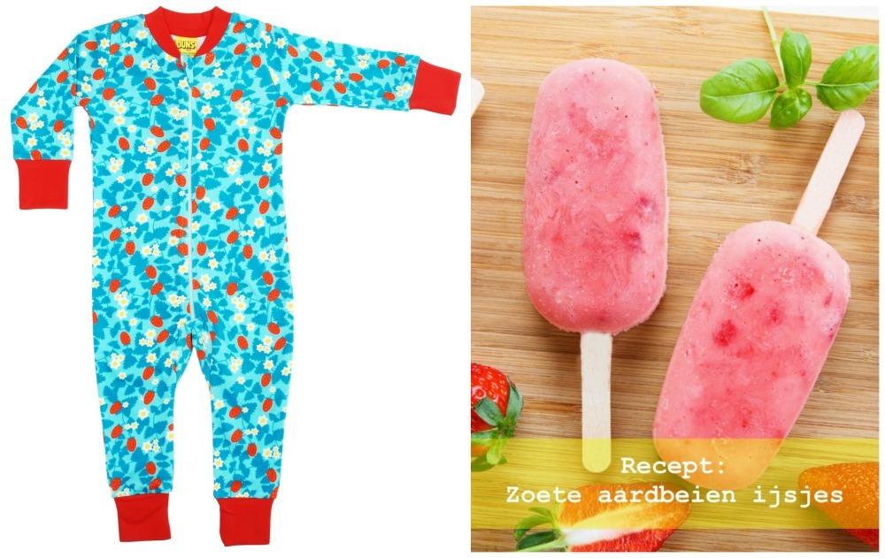 Duns Sweden strawberry jumpsuit