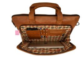 Hillburry laptoptas vintage look