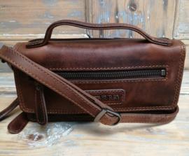 Clutch /portemonnee Hillburry dark/ brown