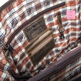 Hillburry Vintage leren schouder tas