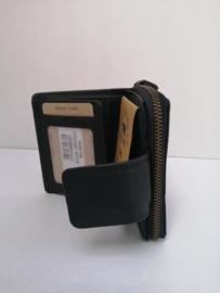 Vintage portemonnee HILL Burry zwart medium
