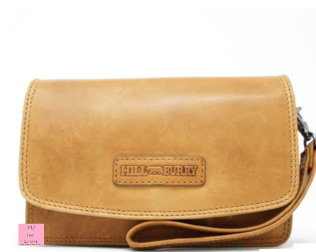 Hill Burry Clutch/ Damestasje cognac