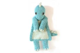 Dino-lappenpop blauw