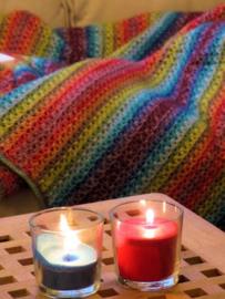 Zacht, kleurrijk dekentje