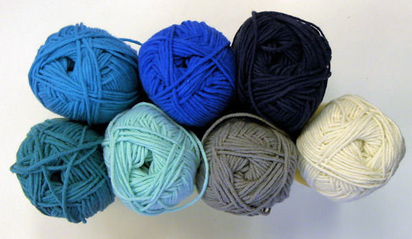 Granny Dekentje Blauw-tinten
