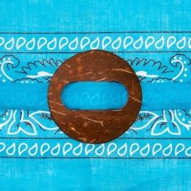 SARONGSLUITING ROND gesp van kokosnoot voor tas, jurk, pareo en sarong