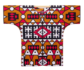 DASHIKI vest met rits SAMACACA ANGOLA   african wax print   unisex   maat S/M