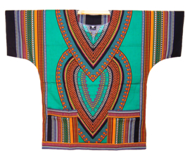 AFRIKAANS DASHIKI SHIRT heart GROEN | unisex zomer party festival blouse