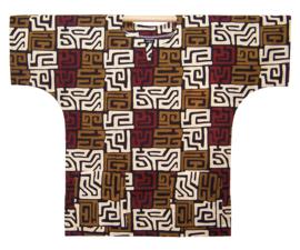 Afrikaans DASHIKI shirt KUBA PRINT MALI | african wax print | unisex zomer party festival blouse
