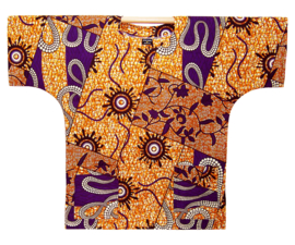 Afrikaans DASHIKI shirt AJANI | african wax print | unisex zomer party festival blouse