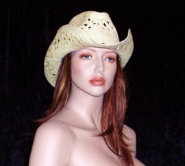 IBIZA HOED zand met kralenbandje | strandhoed | cowboy