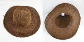 STRANDHOED COFFEE | strooien hoed voor vakantie | opvouwbaar