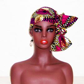 HOOFDDOEK SAFIA | afrikaans sjaaltje | katoen 115 x 38 cm