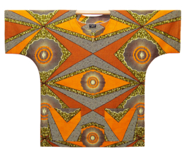 Afrikaans DASHIKI shirt TYREE | african wax print | unisex zomer party festival blouse