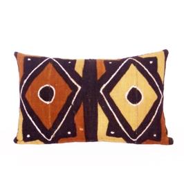 BAMBARA sierkussen van bogolan mud cloth uit Mali | 51x33 cm