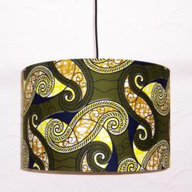 BOMANI afrikaanse lampenkap | diameter 40 cm | Vlisco Super-Wax Print