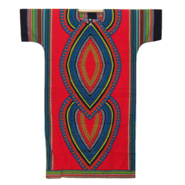 AFRICAN DASHIKI SHIRT LANG heart ROOD | unisex zomer party festival kaftan