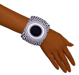 BANDANA + BANGLE set | Black & White | hoofddoek/zakdoek en armband