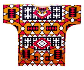 Afrikaans DASHIKI shirt SAMACACA ANGOLA mosterd | african wax print | unisex party festival blouse