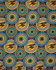 143 Afrikaanse stof | African Wax Print 100% cotton  | prijs / yard