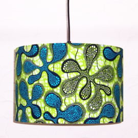 KORAAL afrikaanse lampenkap | diameter 35 cm | Vlisco Wax Block print