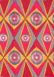 166 Afrikaanse stof | African Wax Print 100% cotton  | prijs / yard