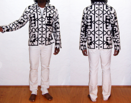 Afrikaanse JAS / JACKET Samakaka | african Super-Wax print | unisex zomerjack | maat L