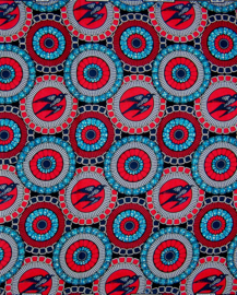 144 Afrikaanse stof | African Wax Print 100% cotton  | prijs / yard