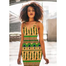 140 Afrikaanse stof | African Wax Print 100% cotton  | prijs/meter