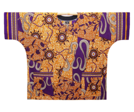 Afrikaans DASHIKI shirt AJANI | african wax print | unisex party festival blouse | KINGSIZE