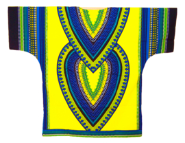 AFRIKAANS DASHIKI SHIRT heart LICHTGEEL | unisex zomer party festival blouse