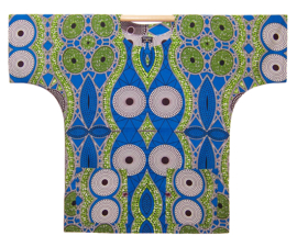 Afrikaans DASHIKI shirt NAEEM | african wax print | unisex zomer party festival blouse