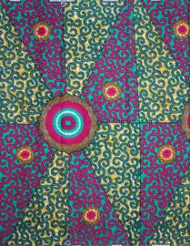 141 Afrikaanse stof | African Wax Print 100% cotton  | prijs / yard