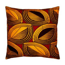 COCONUTS afrikaans sierkussen | 50 x 50 cm | Wax Block Print van Vlisco