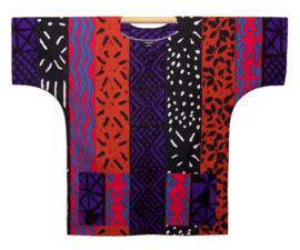 Afrikaans DASHIKI shirt MUD CLOTH MALI pink | african wax print | unisex party festival blouse
