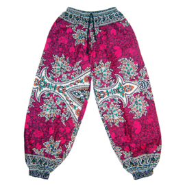 DASHIKI HAREM BROEK etnische print RUBY | dames party aladdin pants maat M/L
