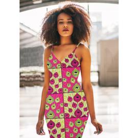 155 Afrikaanse stof | African Wax Print 100% cotton  | prijs/meter