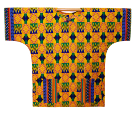 Afrikaans DASHIKI shirt KENTE GHANA | african wax print | unisex zomer party festival blouse