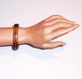 CHUMA houten armband met metalen inleg