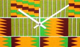 KENTE afrikaanse klok exotische woondeco met african Kente print