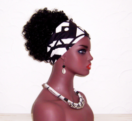 BANDANA SAMAKAKA #13 afrikaanse wax print | hoofddoek / zakdoek 100% katoen