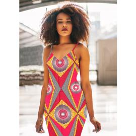 166 Afrikaanse stof | African Wax Print 100% cotton  | prijs/meter